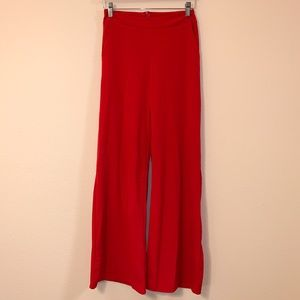Red Flared Leg Pants